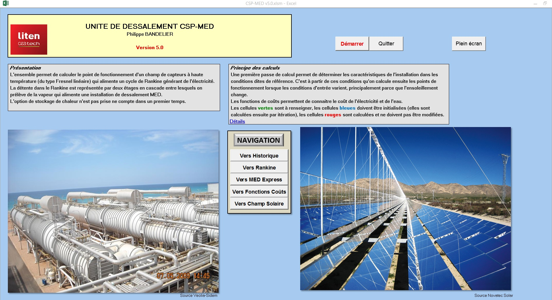 Software to calculate capital and water cost of MED desalination